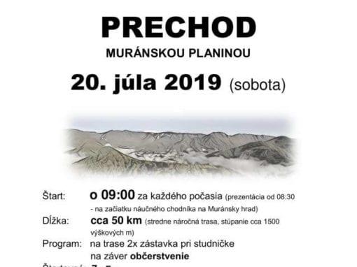 20.7.2019 CYKLISTICKÝ PRECHOD MURÁNSKOU PLANINOU, Muráň