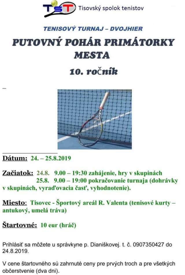 24.-25.8.2019 TENISOVÝ TURNAJ DVOJHIER, Tisovec