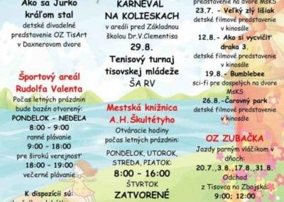 1.7.-31.8.2019 TISOVSKÉ KULTÚRNO-SPOLOČENSKÉ LETO, Tisovec
