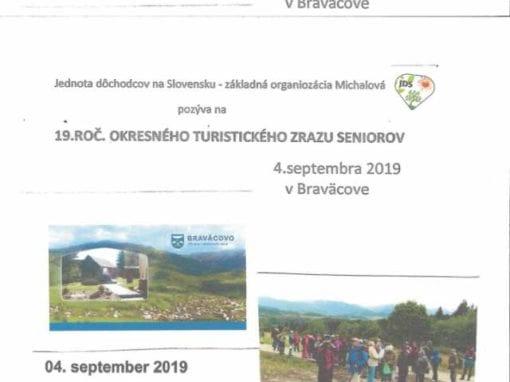 4.9. 2019 – 19. ROČNÍK OKRESNÉHO TURISTICKÉHO ZRAZU SENIOROV, Michalová