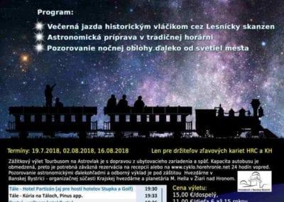 19.7.2018 – ASTROVLAK – Lesnícky skanzén, Čierny Balog