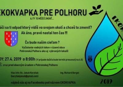 27.4.2019 EKOKVAPKA PRE POLHORU, Pohronská Polhora