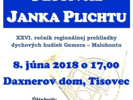 8.6.2018 FESTIVAL JANKA PLICHTU, Tisovec