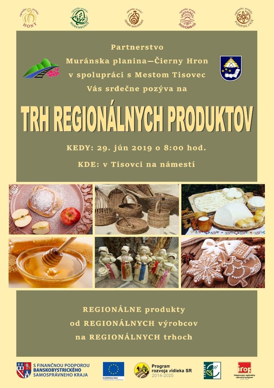 29.6.2019 TRH REGIONÁLNYCH PRODUKTOV, Tisovec