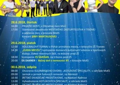 28. – 30.6.2018 – Dni mesta, Tisovec