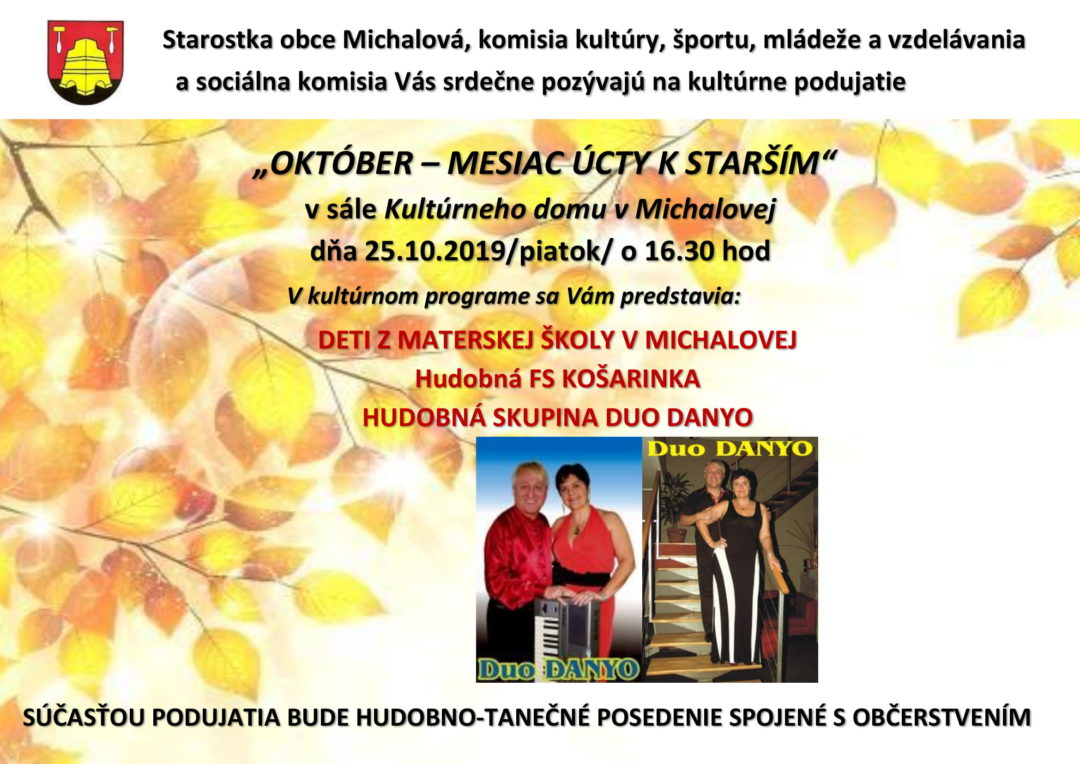 Október – mesiac úcty k starším, Michalová