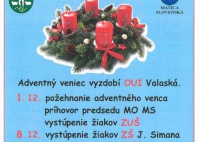 Adventný čas 2019 vo Valaskej