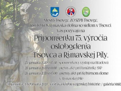 Pripomienka 75. výročia oslobodenia Tisovca