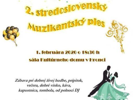 2.stredoslovenský Muzikantský ples, Hronec