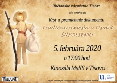 Premietanie dokumentu Šúpolienky, Tisovec
