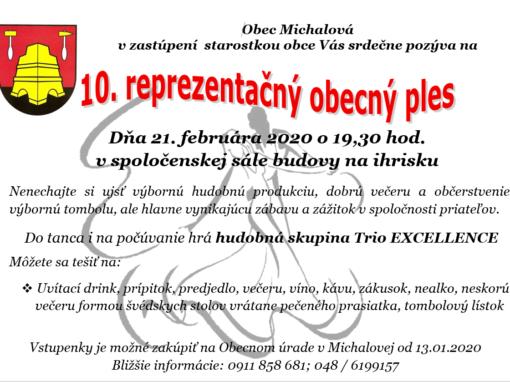 10. reprezentačný obecný ples, Michalová