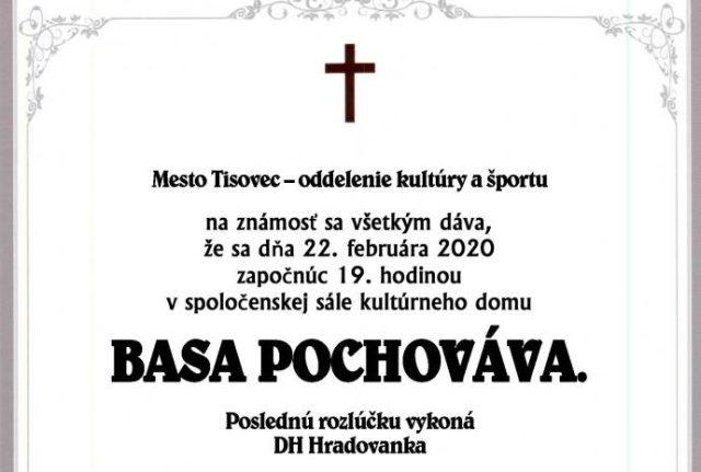Pochovávanie basy, Tisovec