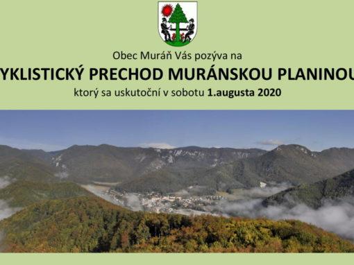 Cyklistický prechod Muránskou planinou