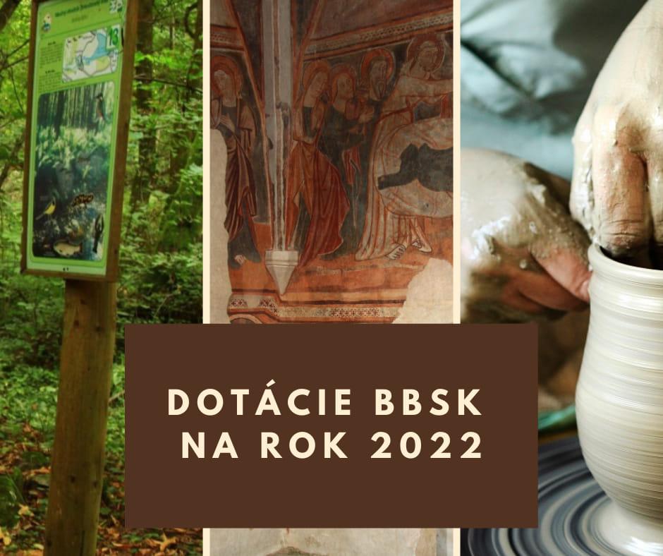 DOTÁCIE BBSK NA ROK 2022