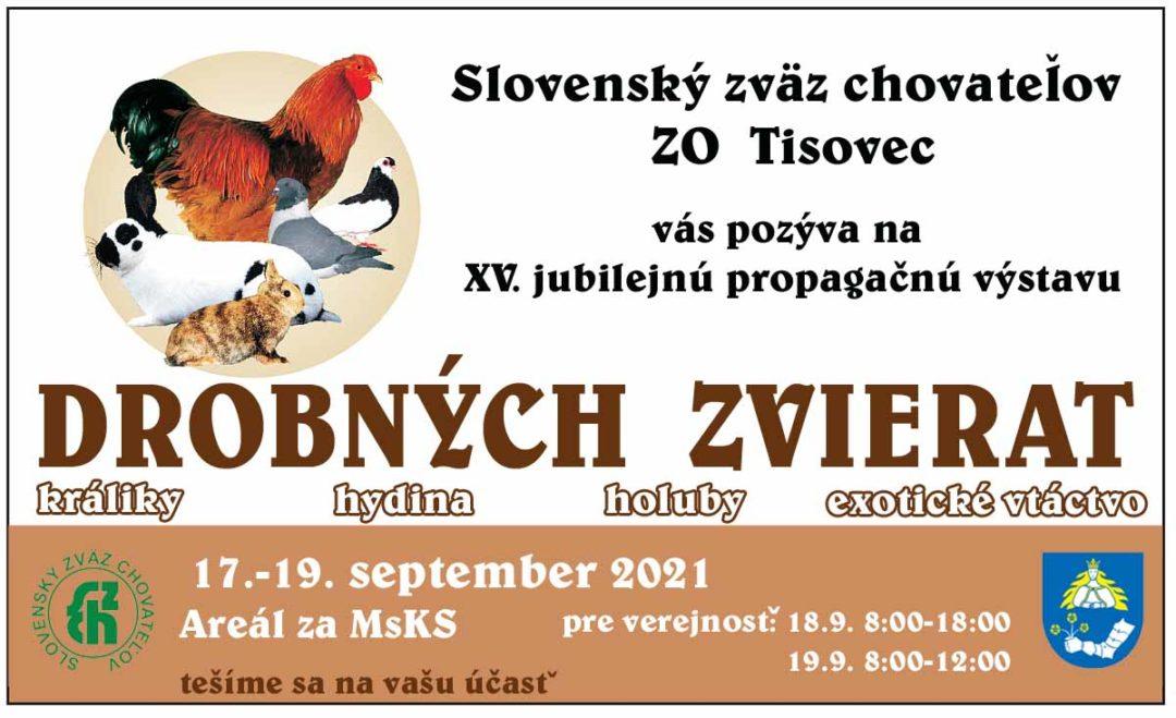 XV. jubilejná výstava drobných zvierat